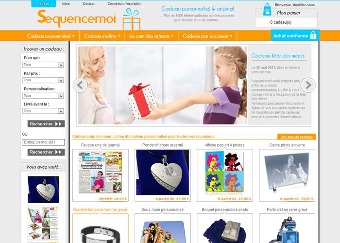 E-commerce riche en idées cadeaux